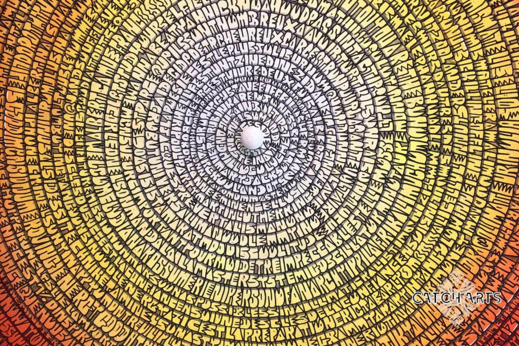 image représentant la fresque mantra très zoomé