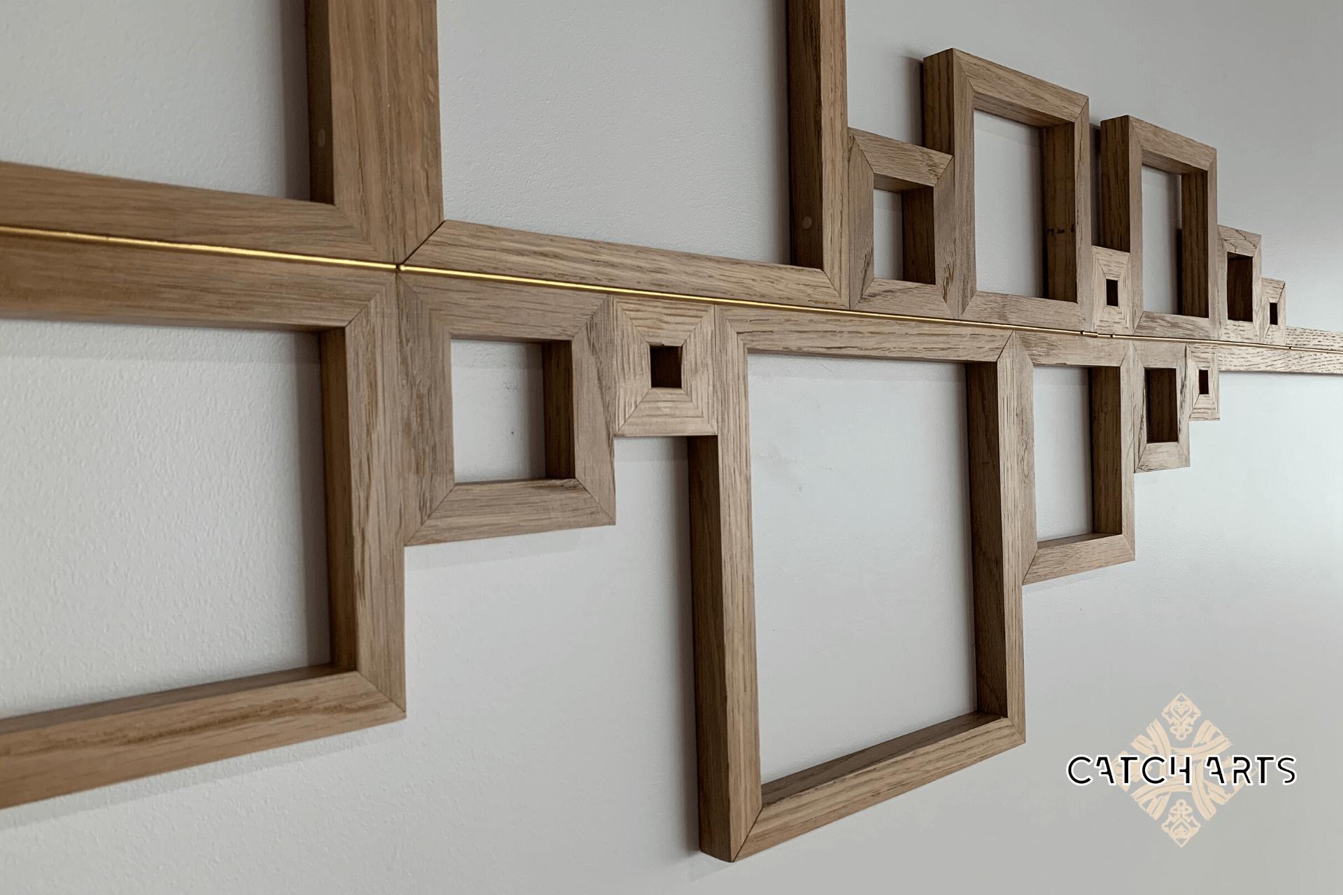 image représentant la suite de Fibonacci en bois CATH ARTS